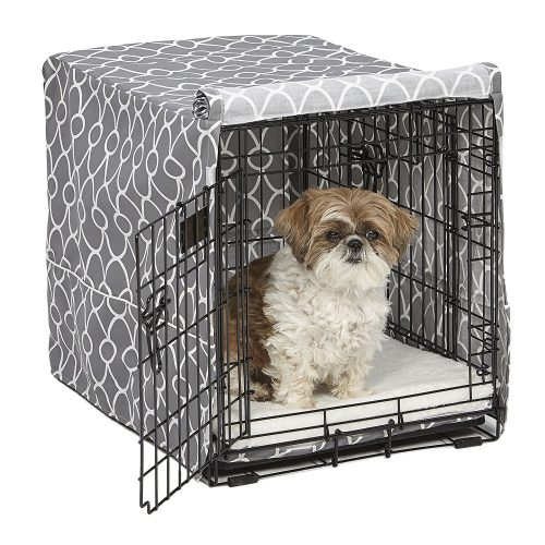 MidWest Wire Dog Crate Covers in Black or Camouflage Polyester