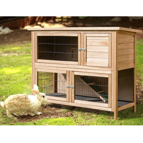 Rabbit Hutch Outdoor Garden Backyard Wood
