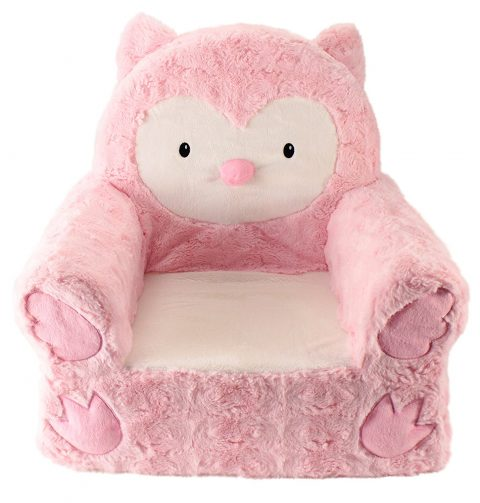 Sweet Seats Adorable Pink Owl Children's Chair Ideal for Children