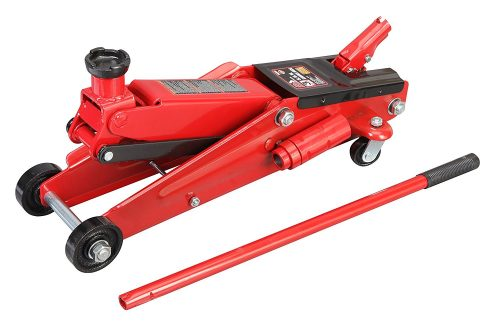 Torin Big Red Hydraulic Trolley Floor Jack: SUV / Extended Height