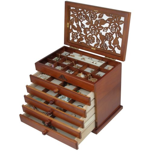 Wooden Jewelry Box Case