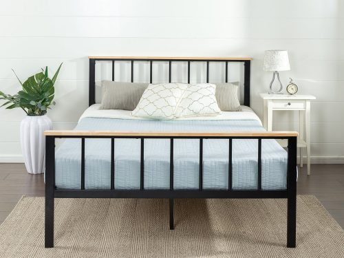 Zinus Contemporary Metal and Wood Platform Bed