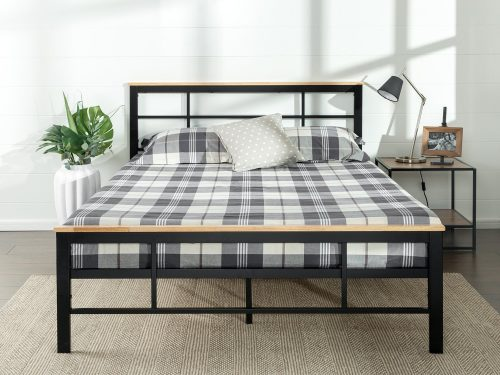 Zinus Urban Metal and Wood Platform Bed