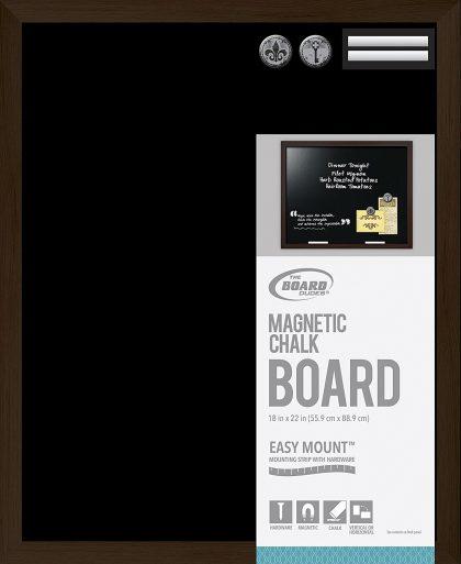Board Dudes Magnetic Chalk Board Wood Style Frame