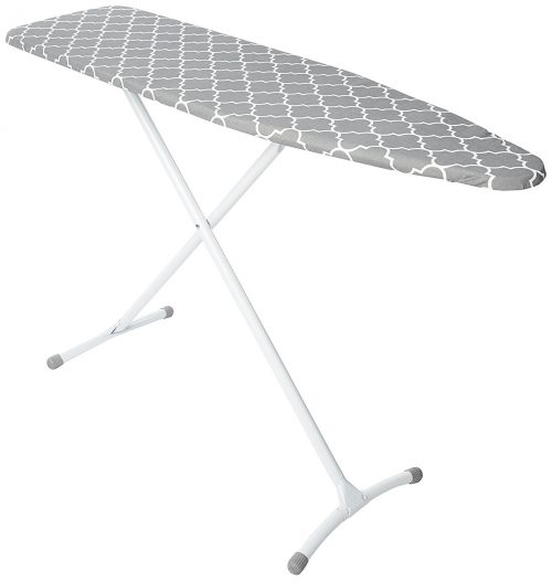 Homz Contour Steel Top Ironing Board, Extra Stable Legs