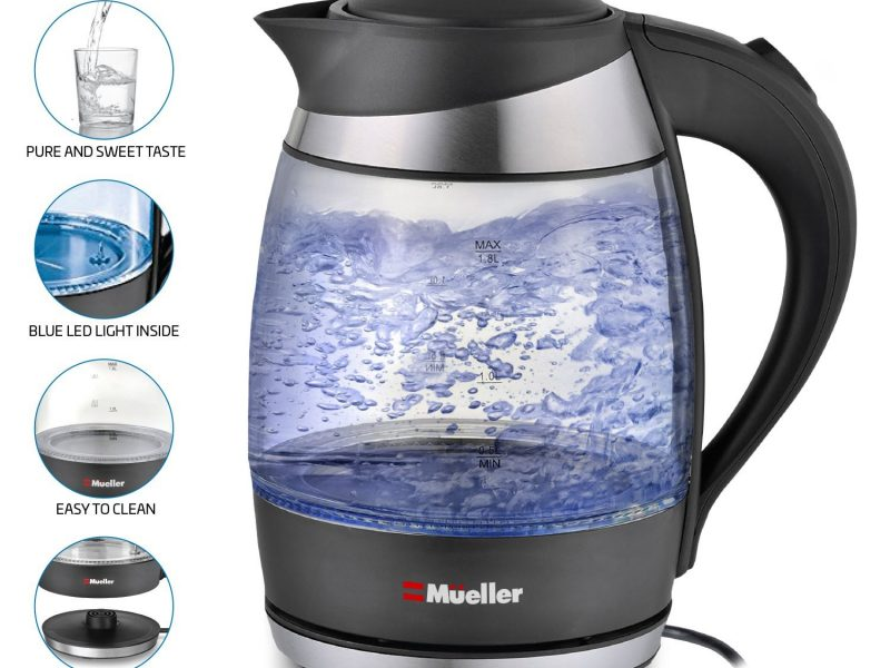Mueller Ultra Cordless Electric Kettle Fast Boiling Glass Tea