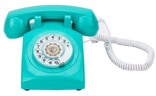 1960's Style Rotary Dial Old Fashioned Retro Classic Vintage Corded Telephone
