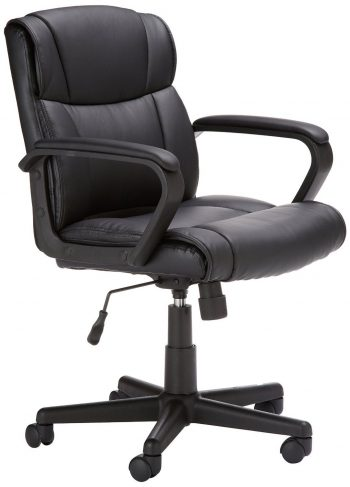AmazonBasics Mid-Back Office Chair, Black-Computer Chairs