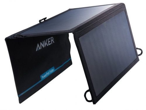 Anker 15W Dual USB Solar Charger, PowerPort Solar for iPhone 7/6s/Plus, iPad Pro/Air 2/mini, Galaxy