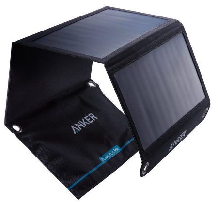 Anker 21W Dual USB Solar Charger, PowerPort Solar for iPhone 7/6s/Plus, iPad Pro/Air 2/mini, Galaxy
