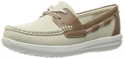 CLARKS Women's Jocolin Vista Boat Shoe-Platform Shoes