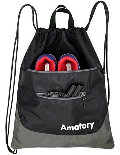 Drawstring Backpack Sports Gym Waterproof String Bag Cinch Sack Sackpack Gymsack