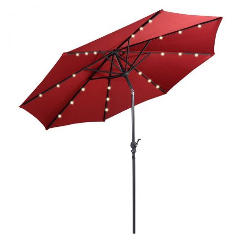 Giantex 10ft Patio Solar Umbrella LED Patio Market Steel