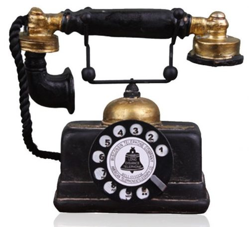 Hewnda Creative Retro Telephones European Resin Rotary Dialing Telephone