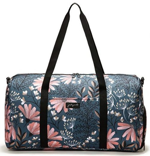 "Jadyn B 22"" Women's Weekender Duffel Bag with Shoe Pocket"