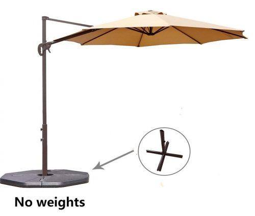 Le Papillon 10 ft Cantilever Umbrella Outdoor Offset Patio Umbrella Easy Open