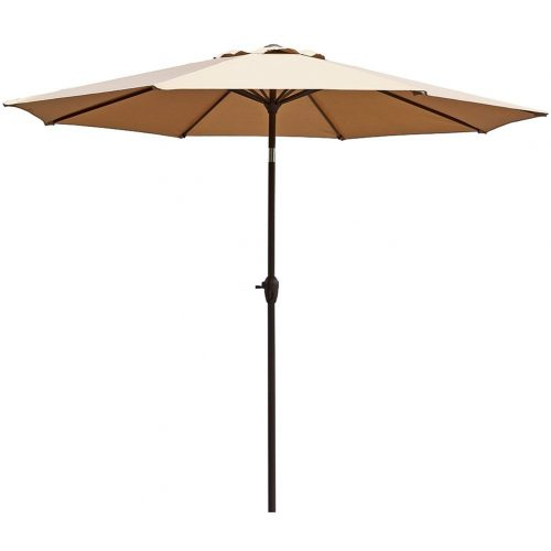 Le Papillon 9 ft Outdoor Patio Umbrella Aluminum Table -Patio Umbrellas