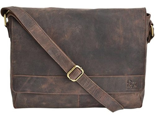 Leather Native Crossbody Full Flap bag 15 Inch New Satchel Briefcase Bag Vintage Crafts Leather Messenger Mens Womens Laptop Great Macbook Bag For Men And Women Pre Valentines Day Special Sale!