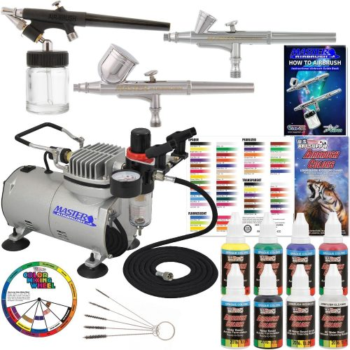 Master Airbrush Professional 3 Airbrush System-Airbrush Kits