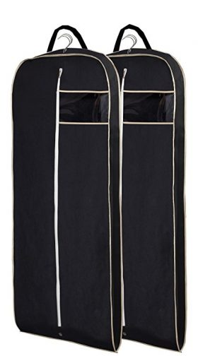 Misslo Breathable 54 Suit Dress Black Garment Bag Pack of 2