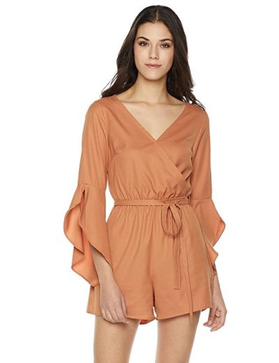 Plumberry Women's Ruffle Sleeve Romper