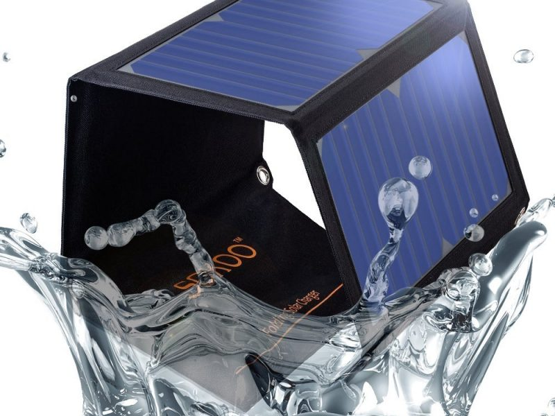 SOKOO 22W 5V 2-Port USB Portable Foldable Solar Charger with High Efficiency Solar Panel