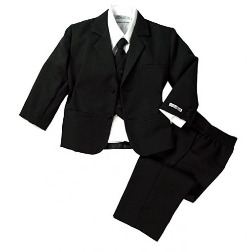 Spring Notion Baby Boys' Formal Black Dress Suit Set