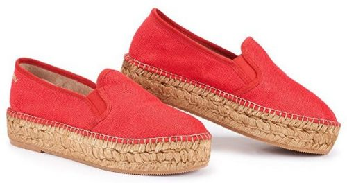 VISCATA Castell Linen Flatform, Authentic and Original Spanish Made Espadrille Flats