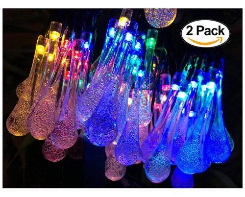 2 Pack Solar Strings Lights, Lemontec 20 Feet 30 LED-Solar String Lights