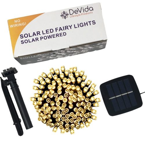 DeVida Solar String Lights 120 Warm White LED