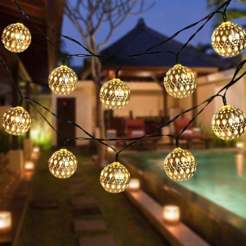 Globe String Lights, CMYK 20 Ft 40 Balls Waterproof LED
