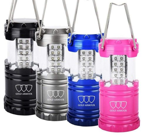 Gold Armour 4Pack LED Lantern Camping Lantern