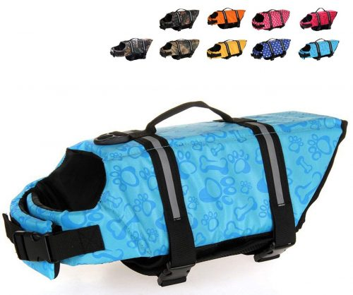 HAOCOO Dog Life Jacket Vest Saver Safety Swimsuit Preserver