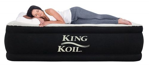 King Koil TWIN SIZE UPGRADED Luxury Raised Air Mattress-Twin air Mattresses