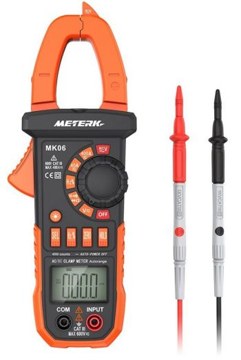 Meterk Digital Clamp Meter 4000 Counts Auto-ranging Multimeter