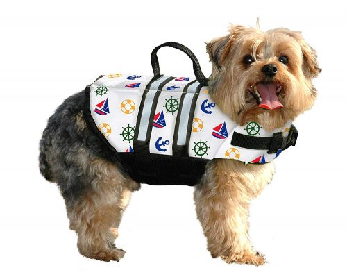 Paws Aboard Small Designer Doggy Life Jacket Nautical 15-20 lbs N1300