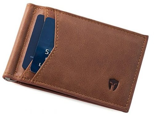 RFID Blocking Slim Minimalist Front Pocket Wallet-Wallets with Money Clips