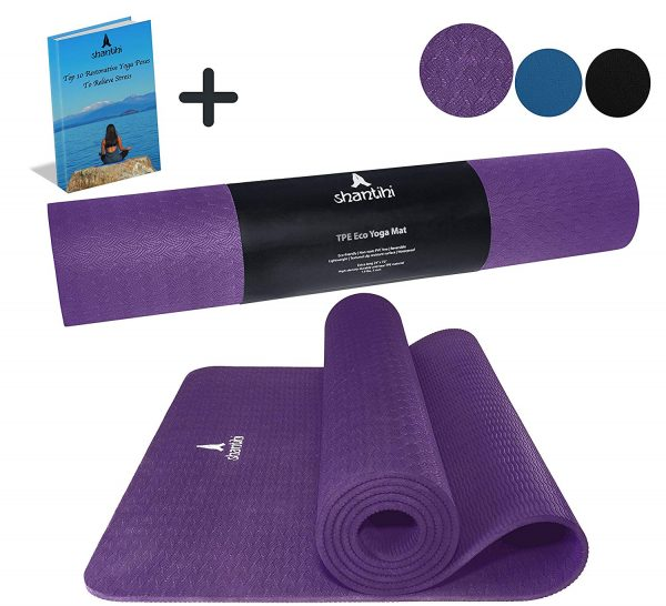 Shantihi Yoga Mat - Thick Eco Friendly Premium TPE Yoga Mat