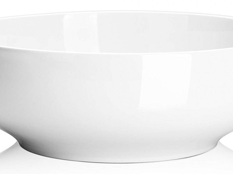 DOWAN 2-1/2 Quart Porcelain Serving Bowls - Salad/Pasta Bowl Set