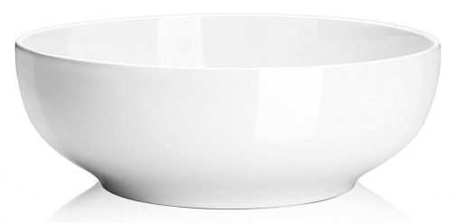 DOWAN 2-1/2 Quart Porcelain Serving Bowls - Salad/Pasta Bowl Set-Big Bowls