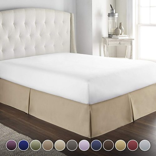 HC COLLECTION Hotel Luxury Bed Skirt/Dust Ruffle 1800 Platinum Collection-14 inch