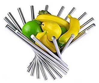 Landtom Creative Stainless Steel Rotation Fruit Bowl