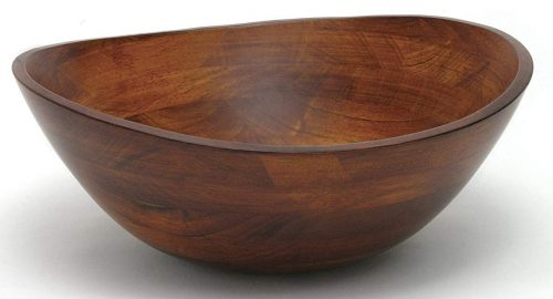 Lipper International 294 Cherry Finished Wavy Rim Serving Bowl for Fruits
