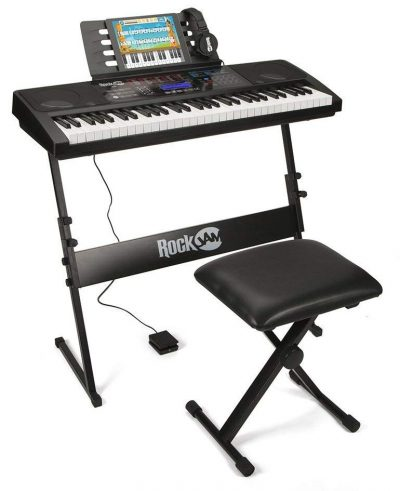 RockJam RJ761-SK Key Electronic Interactive Teaching Piano Keyboard with Stand