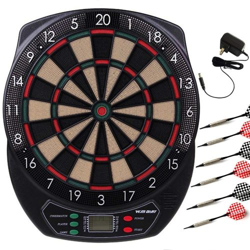 WIN.MAX Electronic Soft Tip Dartboard Set LCD Display with 6 Darts-Electronic Dart Boards