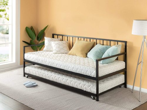 Zinus Newport Twin Daybed and Trundle Set/Premium Steel Slat Support/Daybed