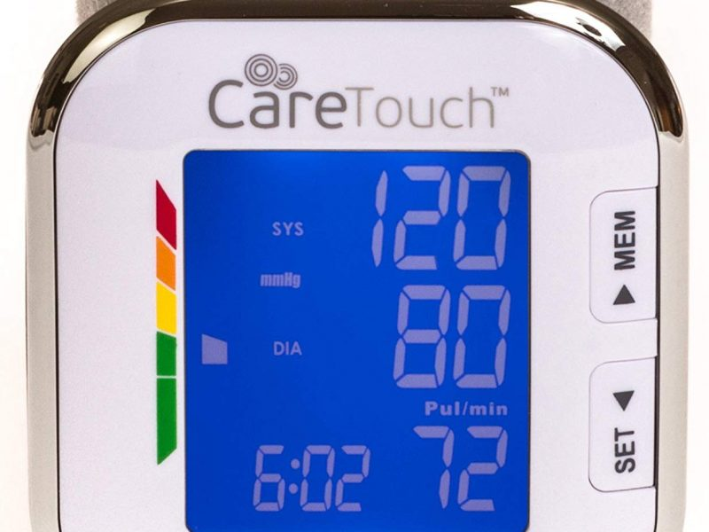 Care Touch Fully Automatic Wrist Blood Pressure Cuff Monitor