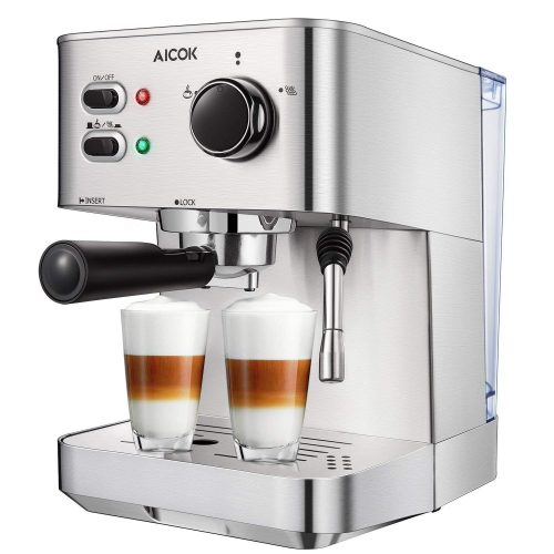 Espresso Machine Aicok, Cappuccino maker, Latte Coffee Maker