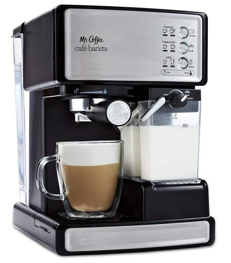 Mr. Coffee Cafe Barista Espresso and Cappuccino Maker-Cappuccino Machines
