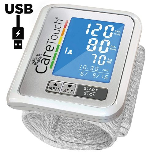 Wrist Blood Pressure Monitor by Care Touch with USB Charging